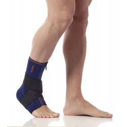 ANKLE BRACE WITH STABILIZERS AND ELASTIC STRAP 552TB