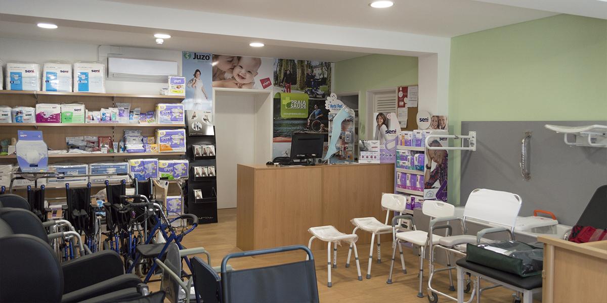 Store interior Praia Saúde