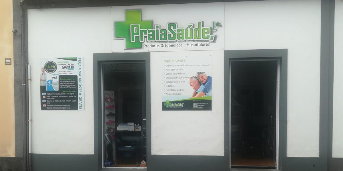 Fachada loja Praia Saúde Ribeira Grande